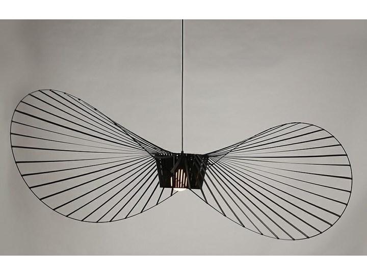 Lampa Capello z wygiętym kloszem insp. Vertigo Lampa druciana Stal Lampa z kloszem Tworzywo sztuczne Metal Kolor Czarny
