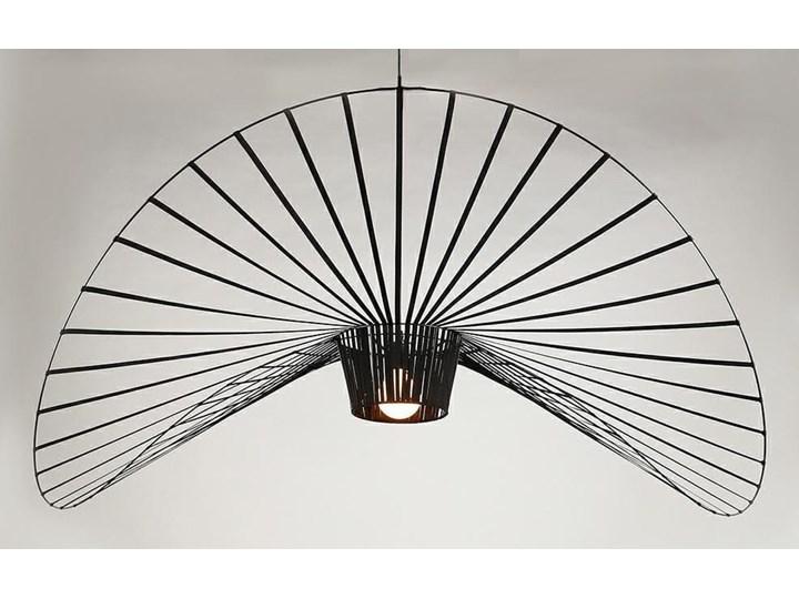Lampa Capello z wygiętym kloszem insp. Vertigo Tworzywo sztuczne Stal Lampa druciana Lampa z kloszem Metal Styl Nowoczesny
