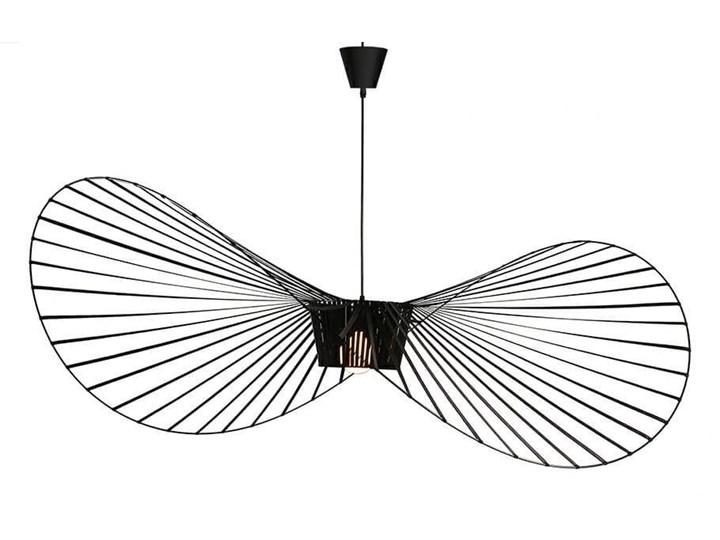 Lampa Capello z wygiętym kloszem insp. Vertigo Metal Lampa druciana Lampa z kloszem Tworzywo sztuczne Stal Styl Nowoczesny