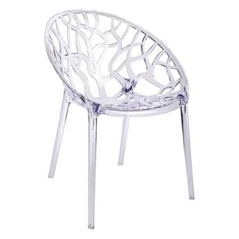 Krzesło Coral transparentne i dymione