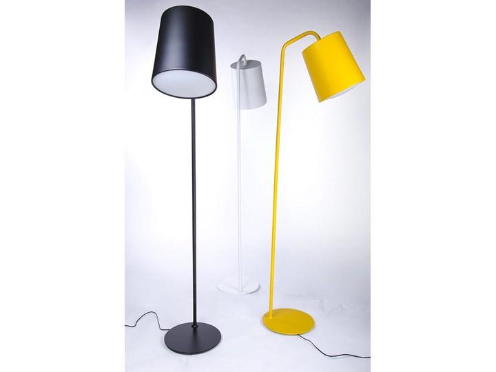 Lampa podłogowa FLAMING czarna Lampa do czytania Metal Lampa z kloszem Styl Nowoczesny