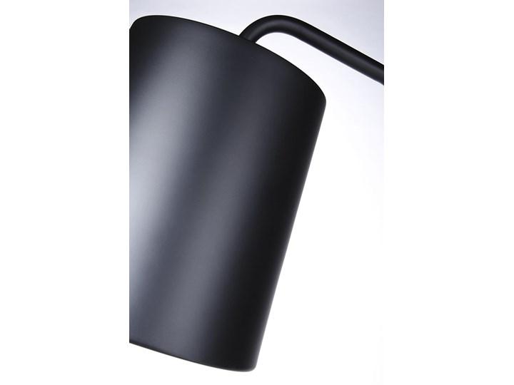 Lampa podłogowa FLAMING czarna Styl Skandynawski Lampa do czytania Lampa z kloszem Metal Kolor Czarny