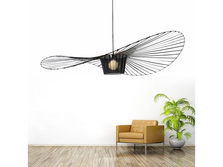 Lampa Capello z wygiętym kloszem insp. Vertigo Lampa z kloszem Tworzywo sztuczne Stal Lampa druciana Metal Kolor Czarny