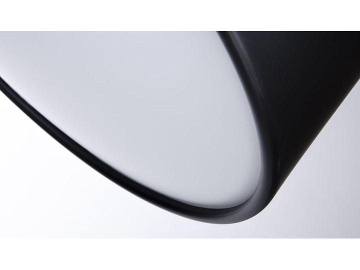 Lampa podłogowa FLAMING czarna Metal Lampa do czytania Lampa z kloszem Styl Nowoczesny