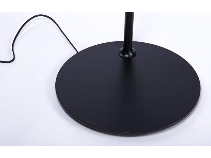 Lampa podłogowa FLAMING czarna Metal Lampa do czytania Lampa z kloszem Styl Skandynawski
