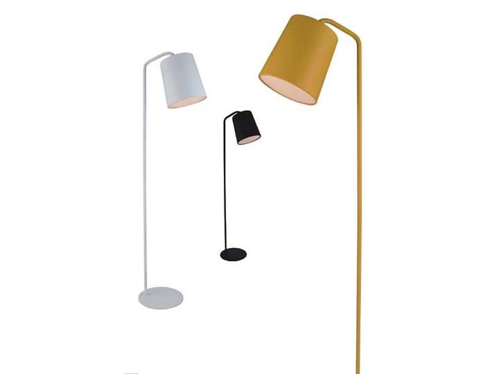 Lampa podłogowa FLAMING czarna Kolor Czarny Lampa z kloszem Metal Lampa do czytania Styl Nowoczesny