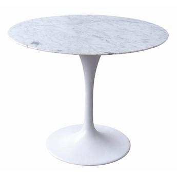 Okrągły stół TULIP MARBLE - marmurowy blat