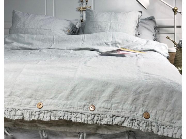 Lniana poszewka na kołdrę wiązana na troczki Pearl Grey 140x200 cm Pearl Grey 100 % lnu Len Poszewka na poduszkę Poszwa na kołdrę Len