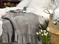 Lniany ręcznik z falbanką Peppercorn Bawełna Ręcznik plażowy Ręcznik do sauny Ręcznik kąpielowy Len