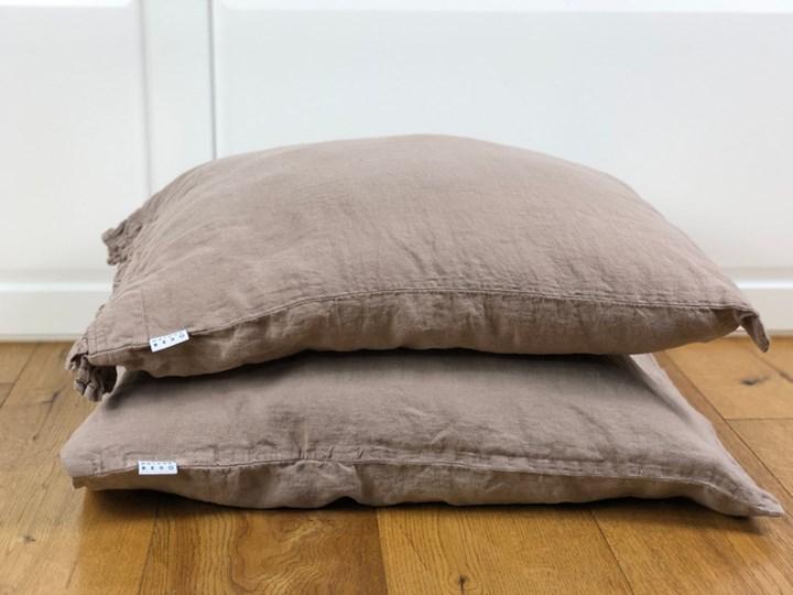 Lniana poszewka na poduszkę Hazelnut 50x50 cm Hazelnut 100 % lnu Len Poszwa na kołdrę Len