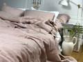 Lniana poszewka na kołdrę wiązana na troczki Mellow Rose 140x200 cm MellowRose 100 % lnu Len Poszewka na poduszkę Poszwa na kołdrę Len