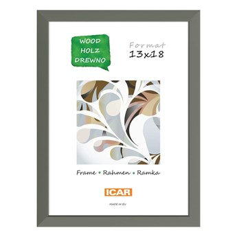 Ramka na zdjęcia Pinia 13 x 18 cm szara drewniana
