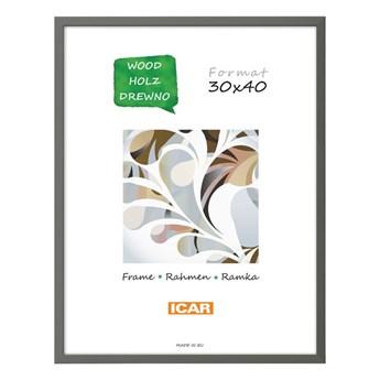 Ramka na zdjęcia Pinia 30 x 40 cm szara drewniana