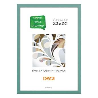 Ramka na zdjęcia Pinia 21 x 30 cm zielona drewniana