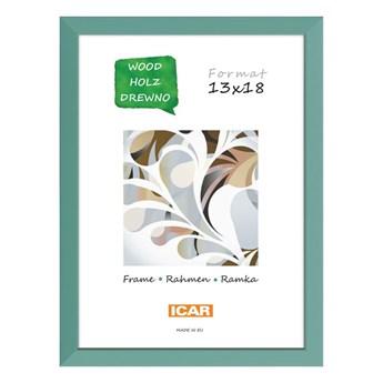 Ramka na zdjęcia Pinia 13 x 18 cm zielona drewniana