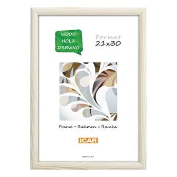 Ramka na zdjęcia Dri Hit 21 x 30 cm biała drewniana