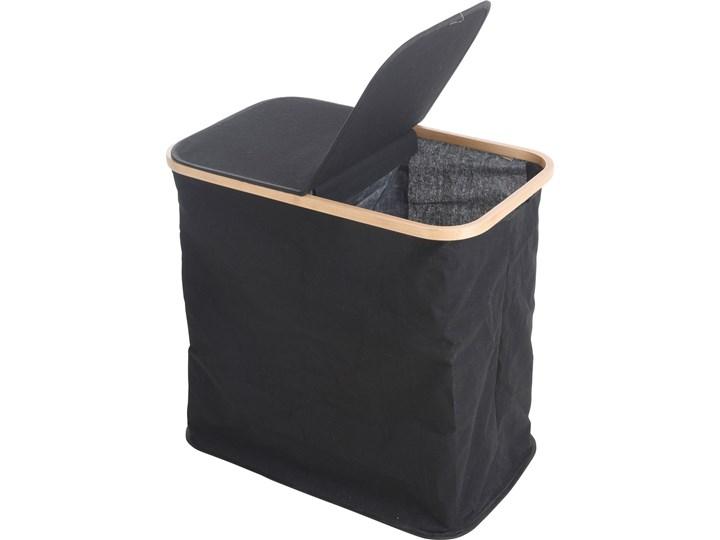 Torba na pranie z bambusową ramką, 53x50 cm, czarna