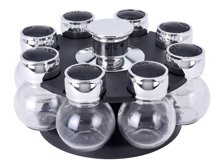 Karuzela na przyprawy, 8 szklanych słoiczków, obrotowy stojak