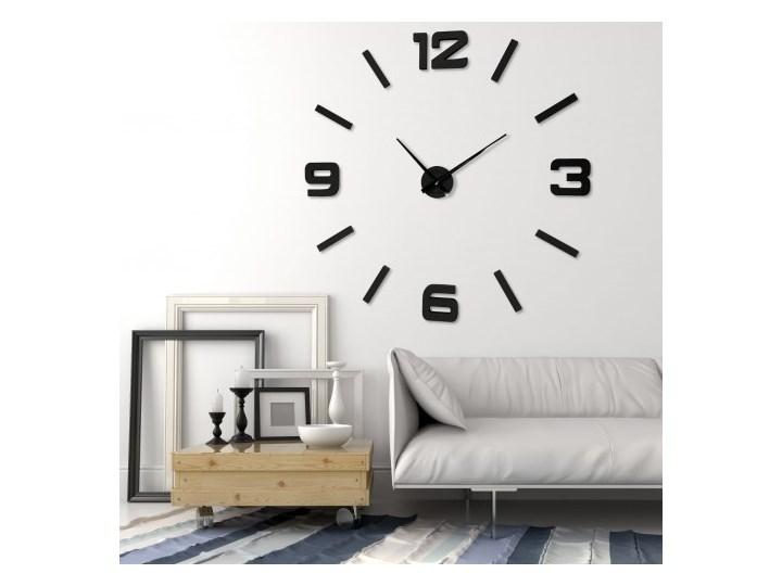 Naklejany zegar ścienny drewniany EKO 130cm Drewno Okrągły Pomieszczenie Biuro i pracownia Pomieszczenie Salon