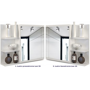 Lustro łazienkowe Lexi 2X - białe