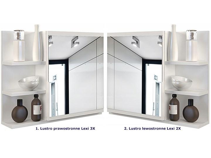 Lustro łazienkowe Lexi 2X - białe Styl Klasyczny Ścienne Prostokątne Lustro z półką Pomieszczenie Łazienka