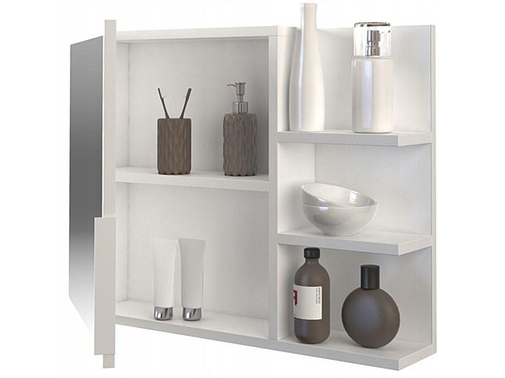 Lustro łazienkowe Lexi 2X - białe Ścienne Prostokątne Lustro z półką Pomieszczenie Łazienka
