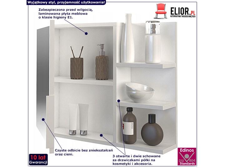 Lustro łazienkowe Lexi 2X - białe Pomieszczenie Łazienka Ścienne Prostokątne Lustro z półką Styl Klasyczny