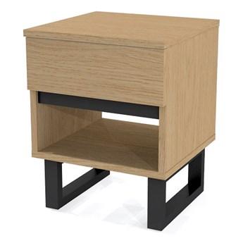 Dębowa minimalistyczna szafka nocna Harper