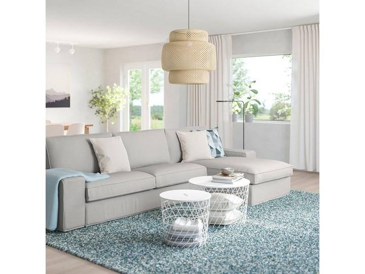 KIVIK Sofa 4-osobowa Wysokość 45 cm W kształcie L Wysokość 83 cm Szerokość 318 cm Stała konstrukcja Kolor Szary