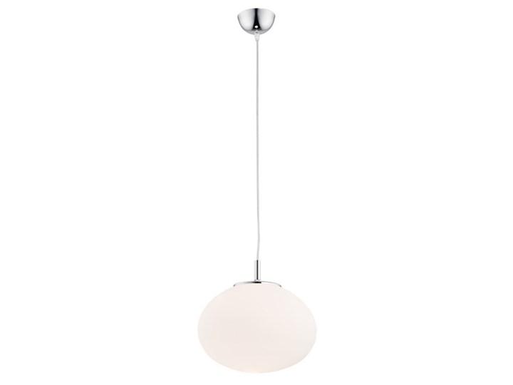 Klasyczna szklana lampa wisząca opal mat kula PIREUS 3409