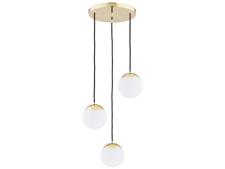 Nowoczesna szklana lampa wisząca biała designerskie kule