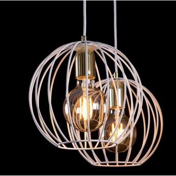 ALBIO 3 WHITE 145/3 wisząca lampa sufitowa LOFT druciaki regulowana metalowa złoto biała