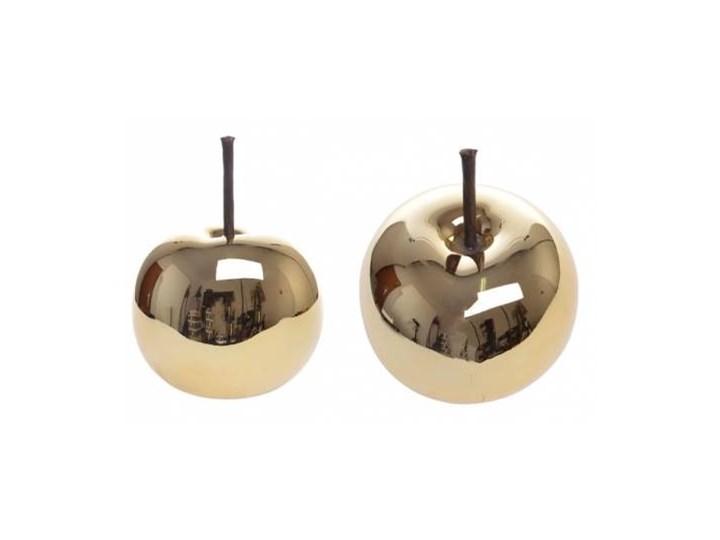Jabłka ceramiczne Gold komplet 2 szt.