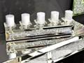 Świecznik lustrzany z kryształkami na 5 świec 61 cm TMZ150 Kategoria Świeczniki i świece