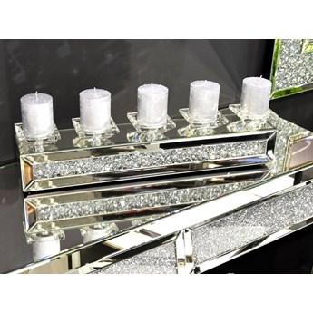 Świecznik lustrzany z kryształkami na 5 świec 61 cm TMZ150