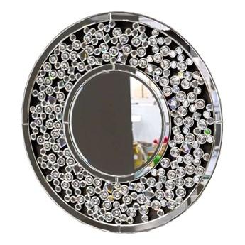 Lustro w ramie z kryształków glamour 16JZ104