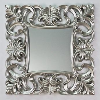 Lustro w srebrnej ramie 100x100 PU-021 K
