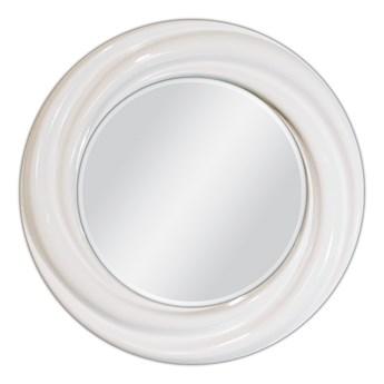 Białe okrągłe lustro Ø 68 cm PU041-1