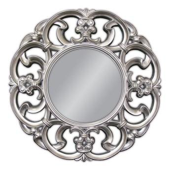 Ozdobne okrągłe srebrne lustro Ø 100 cm PU087