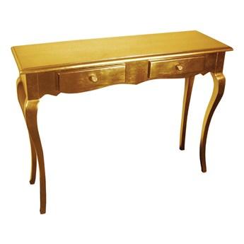Złota drewniana konsola 105x35x80 M-46 A