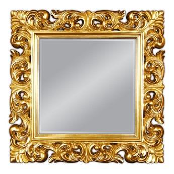 Lustro w złotej ramie 92x92 PU-049 K
