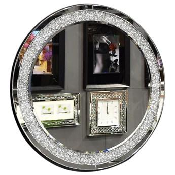 Lustro z zatopionymi w ramie kryształkami  16TM010
