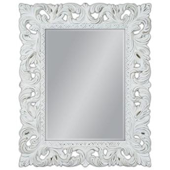 Lustro w białej przecieranej ramie 80x100 PU-058