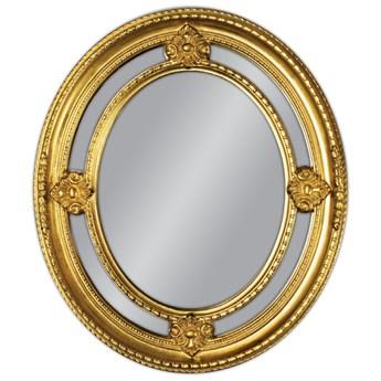 Owalne lustro w złotej oprawie 62x72 PU-027