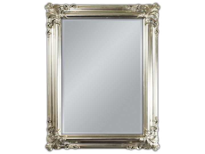 Lustro w drewnianej srebrnej oprawie 70x90 21023 Lustro z ramą Prostokątne Ścienne Kolor Srebrny
