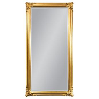 Lustro w drewnianej złotej ramie 90x180 21023