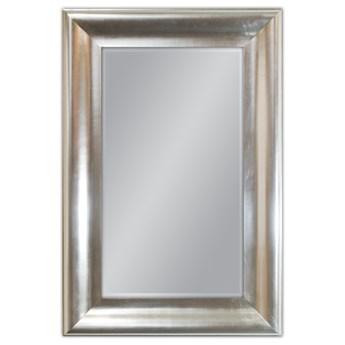 Srebrne lustro w drewnianej oprawie 80x120 GP2399
