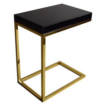 Stolik pomocnik z czarnego szkła  47 x 31 x 57 cm LW706