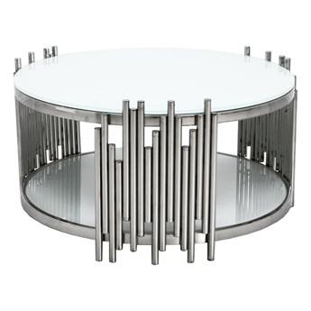 Designerski stolik kawowy z białym blatem C416