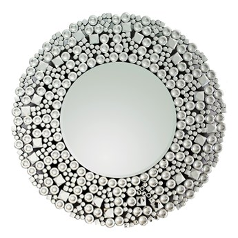 Lustro glamour w okrągłej luksusowej ramie 16jz03